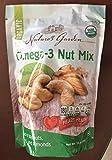 organic nuts - Nature's Garden Organic Omega-3 Nut Mix - Large 24 oz Resealable Bag