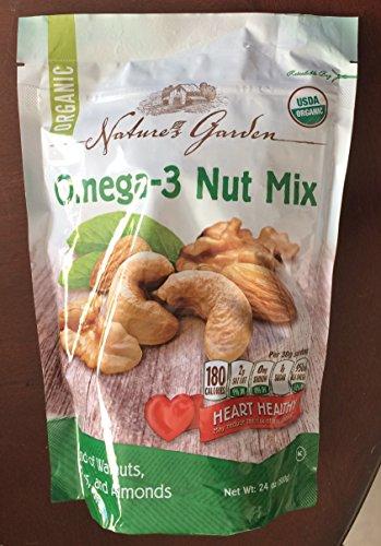 Natures Heart (Nature's Garden Organic Omega-3 Nut Mix - Large 24 oz Resealable Bag)