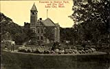 Fountain In Oaklyn Park And City Hall Lake City, Minnesota Original Vintage Postcard