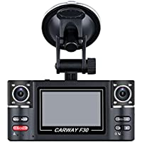 F30 Driving recorder - SODIAL(R)F30 2.7 HD 1080P Dual Lens Driving recorder