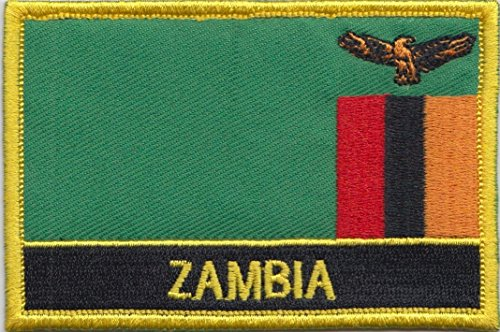 Zambia Country Flag Embroidered Blazer Badge Patch