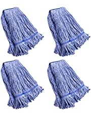 String Mop Heads Replacement Heavy Duty Commercial Grade Blue Cotton Looped End Wet Industrial Cleaning Mop Head Refills