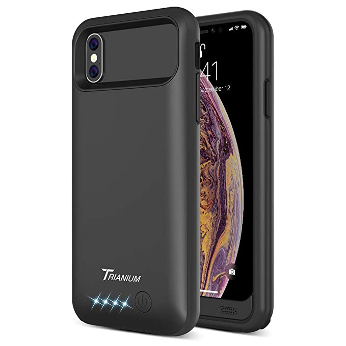 Trianium Atomic Pro Battery Case Compatible with Apple iPhone Xs/iPhone X (5.8-Inch) 4000mAh Portable Rechargeable Extended Power Charger [Not Support ...