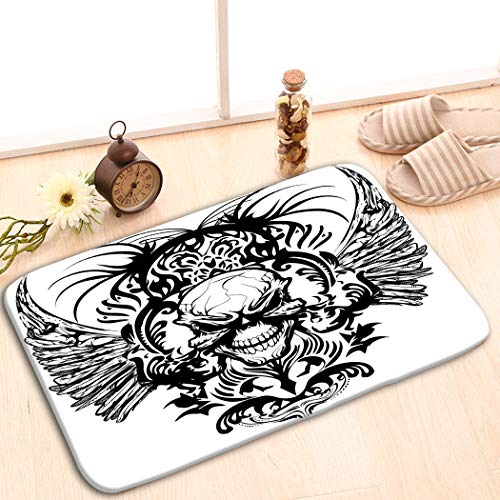 zexuandiy Doormat Contemporary Print Area Rugs Non Slip Polyester Colorful Floor Mats Living Room 15.7