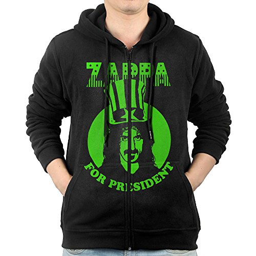 [MNB Men's Frank Zapp Full Zip Hooded Sweatshirt Jackets Black Size S] (Welcome To The Black Parade Costume)