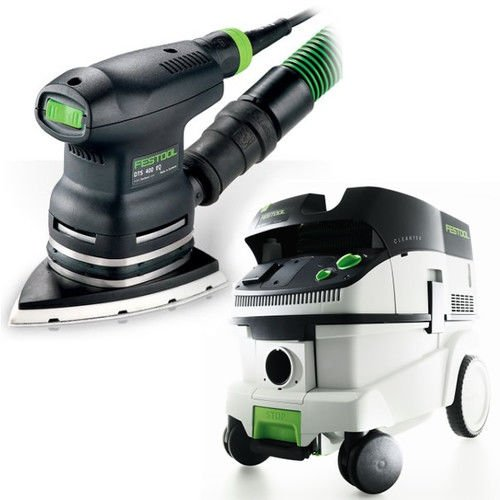 Festool DTS 400 EQ Sander with T-LOC + CT 26 Dust Extractor Package - 400 Eq Sander