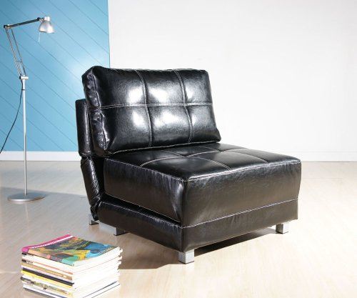 Gold Sparrow ADC-CCB-NYK-PUX-BLK New York Convertible Chair Bed, Black (Twin Bed Sparrow)