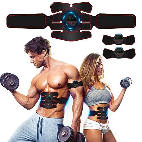 ROOTOK Elettrostimolatore Muscolare, EMS Suscolo Addominale,Ricarica USB ABS Trainer/Toner per Addome/Braccio/Vita/Gambe…