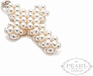 product image for Cultured Pearl Heart Cross