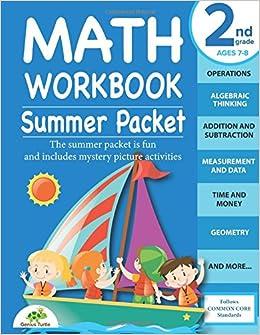 Math Workbook 2nd grade: Summer Packet: Genius Turtle ...