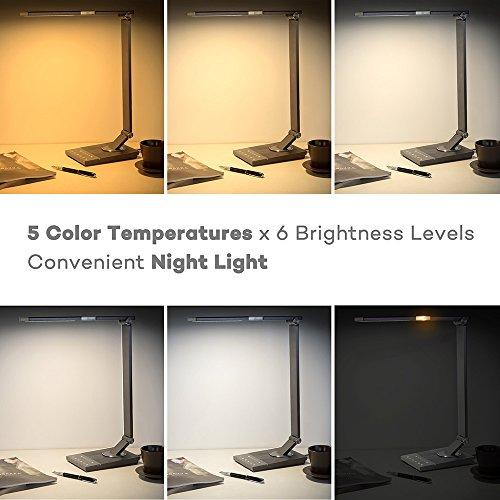 Desk Lamp TaoTronics Stylish Metal LED Desk Lamps For Office Import It All