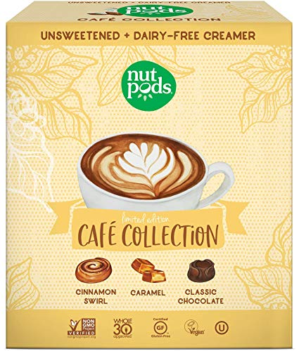 nutpods Café Collection 3-pack, Unsweetened Dairy-Free Liquid Coffee Creamer Made From Almonds and Coconuts (Best Healthy Non Dairy Creamer)