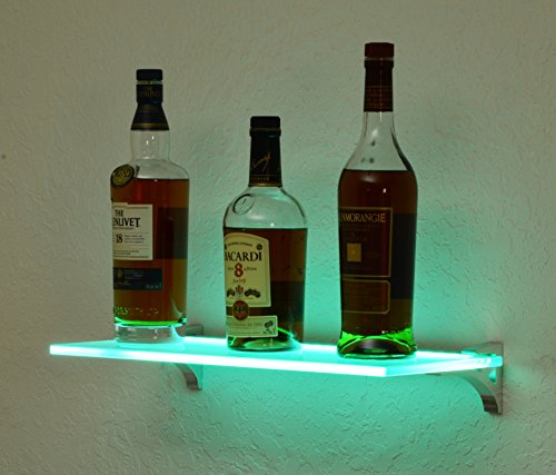 Bluegate Inc Multicolor LED Bar Lighted Shelving with Remote 10