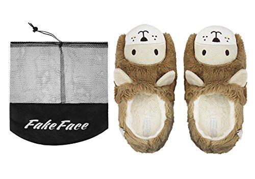 Damen Pantoffeln, Damen Süße Winter Baumwolle Hausschuhe Plüsch Wärme Weiche Kuschelige Home Rutschfeste Slippers für Damen Braun Braun(36/37)