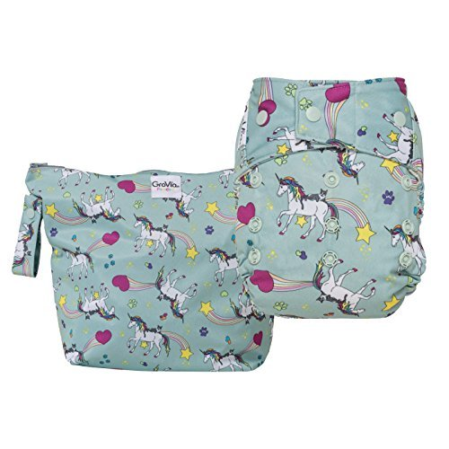 GroVia Diaper and Wetbag Purrrrfect Combo