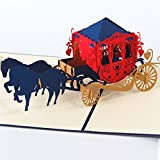 Best Boyfriend Cards - HUNGER Handmade 3D Pop Up Carriage Birthday Cards Review