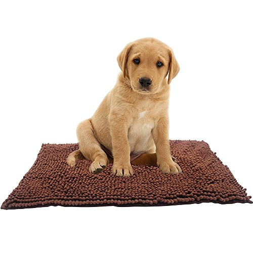 Super Absorbent Doormat,Microfiber Pet Pad,Bioline,Great for Cleaning Paws,Brown 30x18inches