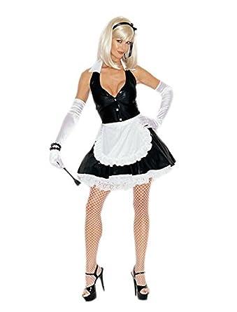 Amazon.com: Mujer 3 pc. Disfraz de sirvienta planta baja ...