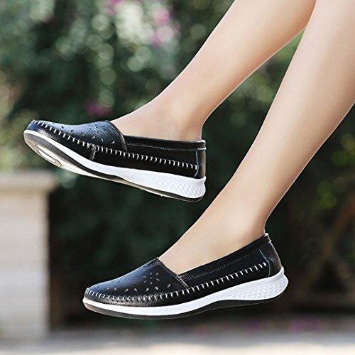 Cuero para Escolares Zapatos Deporte Zapatillas o Plataforma PAOLIAN de de Mujer Oto C xTfzP
