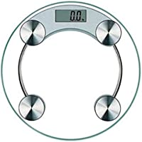 8mm Toughened Glass Top Heavy Duty Weighing Machine For Human Body Weight Luggage Electronic Digital Weighing Scale (Transparent)