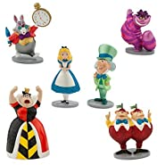 Disney Alice in Wonderland Figure Play Set 6 pieces w/Glitter accents Exclusive