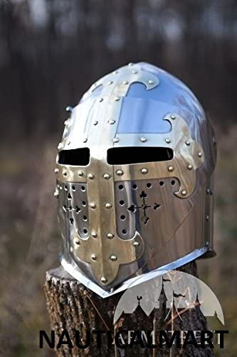 NAUTICALMART 中世のシュガーローフアーマー ヘルメット スタンレス