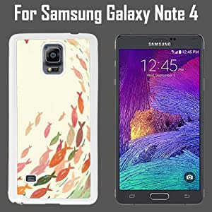 Cartoon Anime Fish Custom Case/ Cover/Skin *NEW* Case for Samsung Galaxy Note 4 - White - Plastic Case (Ships from CA) Custom Protective Case , Design Case-ATT Verizon T-mobile Sprint ,Friendly Packaging - Slim Case