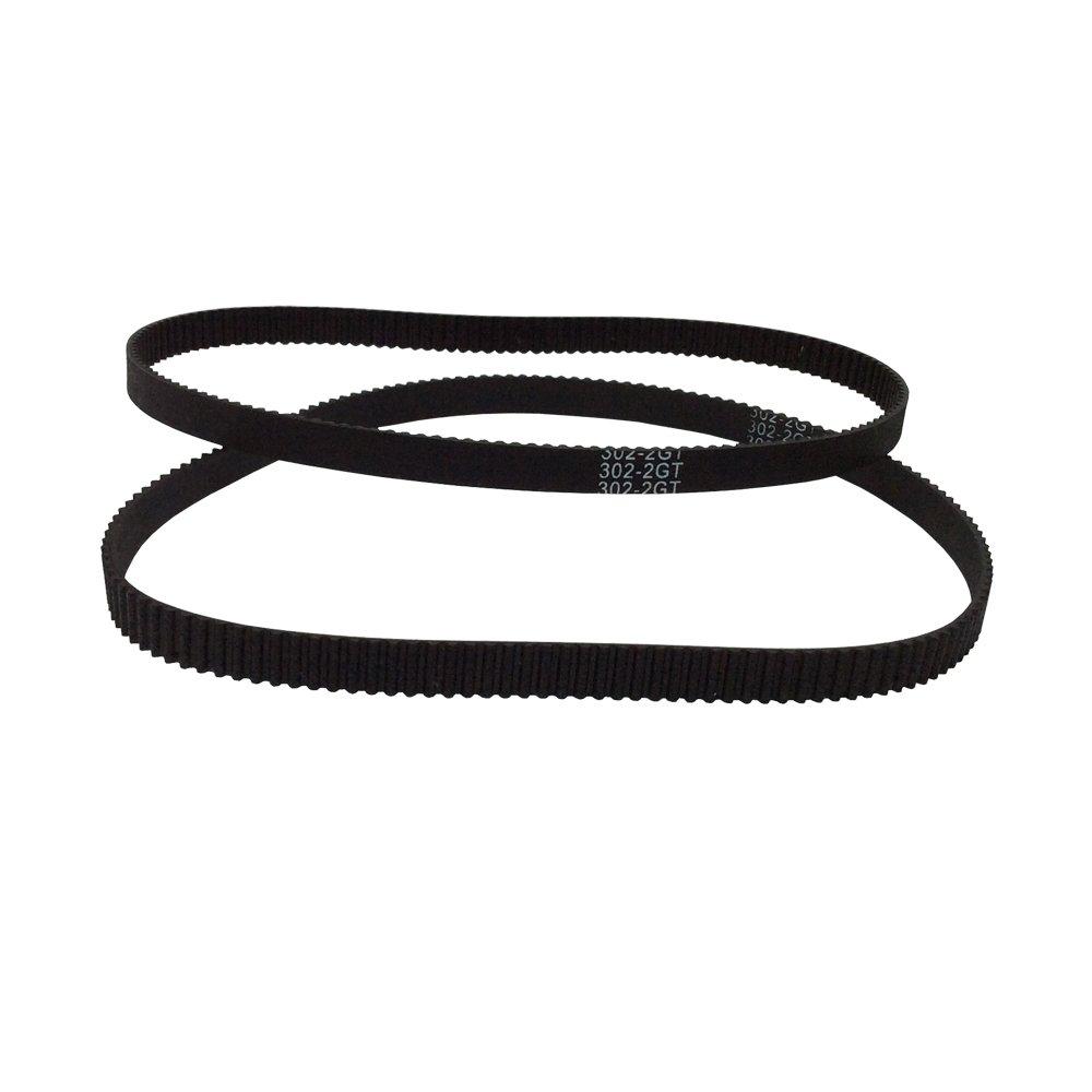 BEMONOC Pack of 2pcs 2GT Driver Belt Annular Loop Closed Rubber 610-2GT-6 Timing Belt L=610mm W=6mm 305 Teeth for 3D Printer Parts