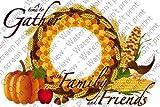 1/2 Sheet - Thanksgiving - Cake Photo Frame - Edible Cake/Cupcake Party Topper