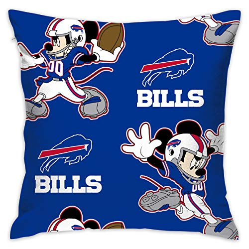 Dalean Buffalo Bills Creative Cartoon Pillowcase, Zipper Pillowcase, Office Pillowcase (17.7