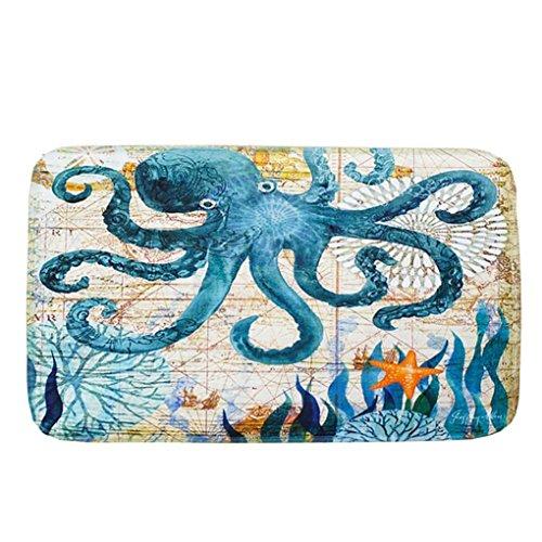 Sothread 40x60cm Soft Non-slip Rectangle Creative Printed Carpet Mats Bath Area Rug Doormats (C)]()