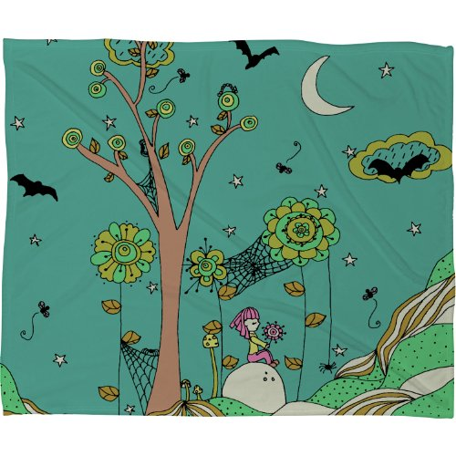 Deny Designs Rebekah Ginda Design Spiderwebs Fleece Throw Blanket, 60 x 80