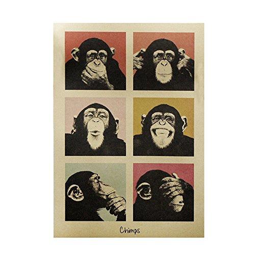 Gulin Cartel Retro Papel Kraft Pintura Decorativa, Adecuado para la habitación de los niños Sala de Estar Dormitorio Sala...