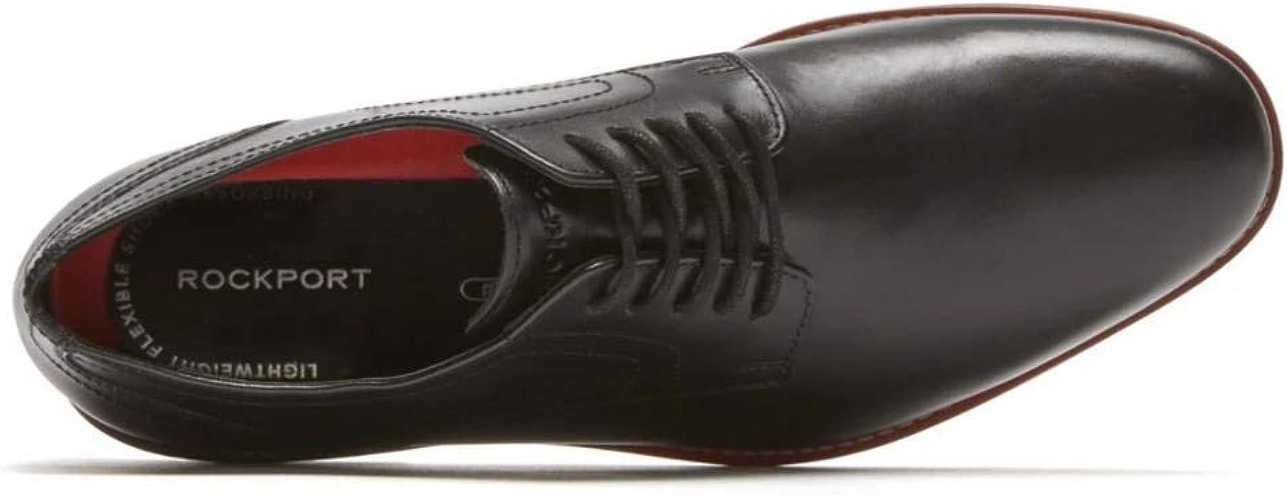Rockport Mens Symon Oxford Black Oxford 8 W Fashion Shoes ...