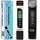 home drinking water treatment devices GlowGeek Professional Quality TDS, EC & Temperature Meter, Water Quality Test Meter,0-9990ppm.Accurate and Reliable Water Test Meter. Ideal for Drinking Water, Aquariums - White