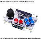 MakerFocus BBC Micro:bit Game Joystick:bit Extending Different Communication Modules with Built-in Power Switch and Outer Power Connector and Acrylic Protective Case IoT Things for BBC Micorbit Board