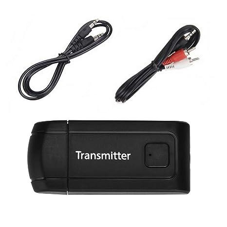 Liqiqi Transmisor inalámbrico USB BT4.0 Receptor estéreo de Audio Adaptador de música para TV