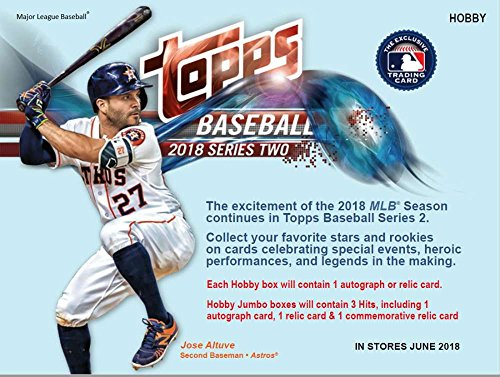 (2018 Topps Series 2 Baseball Hobby Box (36 Packs/10 Cards: 1 Autograph or relic))