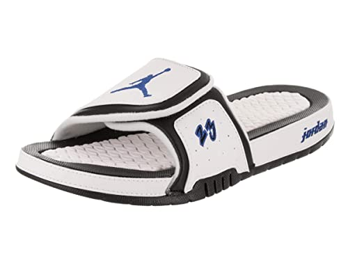 8fe8dc25b2ec Image Unavailable. Image not available for. Color  Jordan Nike Men s Hydro  X Retro White Royal Black Sandal 11 ...
