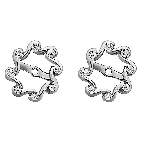 1/4 ct. Diamonds (G-H,I2-I3) Everlasting Earring Jacket in 10k White Gold (0.24 ct. twt.) by TwoBirch