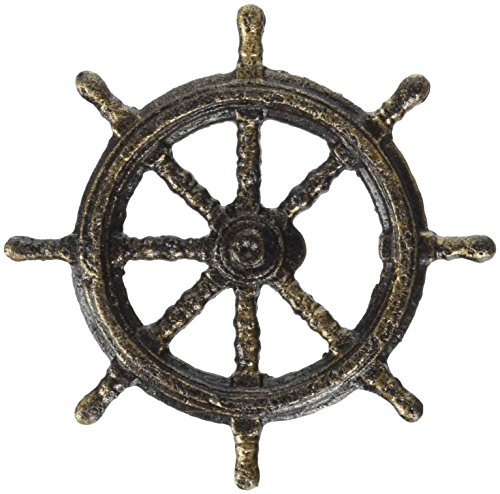 Design Toscano Captain's Boat Wheel Cast Iron Bottle Opener (Boat Iron Anchor Cast)