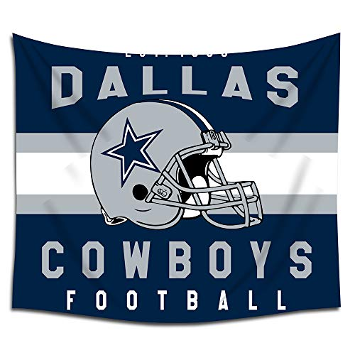 (Jacoci Dallas Cowboys Wall Tapestry Hanging Stripe Design for Bedroom Living Room Dorm Handicrafts Curtain Home Decor Size 50x60 Inches)