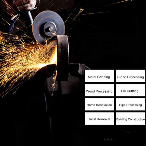 Prostormer 20V Max Cordless 4-1/2'' Angle Grinder with 3-Position Adjustable Auxiliary Handle, 1 x Cutting Wheel, 1 x Grinding Wheel, 4.0Ah Lithium-ion Battery and Fast Charger Included by Prostormer (Image #5)