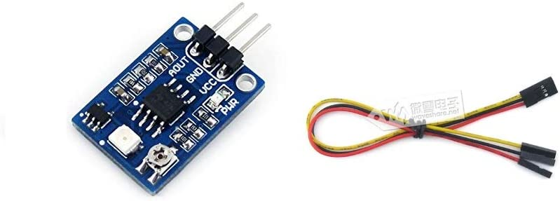 waveshare UV Detection Sensor Module 200nm-370nm Wavelength Ultraviolet Ray Detector Module for Arduino Support DC 3V and 5V