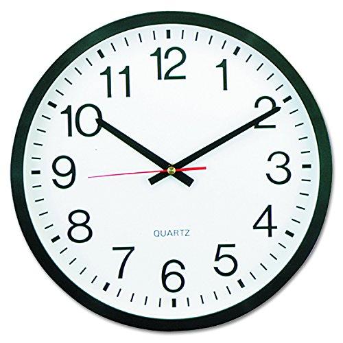 Universal 10431 Round Wall Clock, 12 5/8