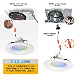 IBRIGHT 6 in Smart Wi-Fi LED Recessed Downlight