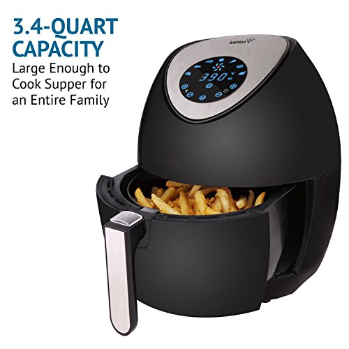 Ivation Air Fryer with Digital LED Touch Display 7 Cooking Presets