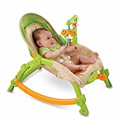 It starts out as an infant seat or rocker with a low-profile frame, very appropriate for newborns. Then, as your child grows, you can easily convert it to an infant seat to add interactive toy play, then make it a toddler rocker. It folds eas...