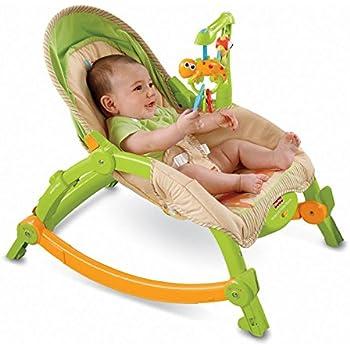 Fisher-Price Newborn-to-Toddler Portable Rocker, Rainforest