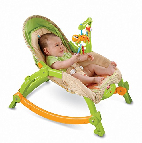 Infant Newborn Rocking Chair - Fisher-Price Newborn-to-Toddler Portable Rocker, Rainforest